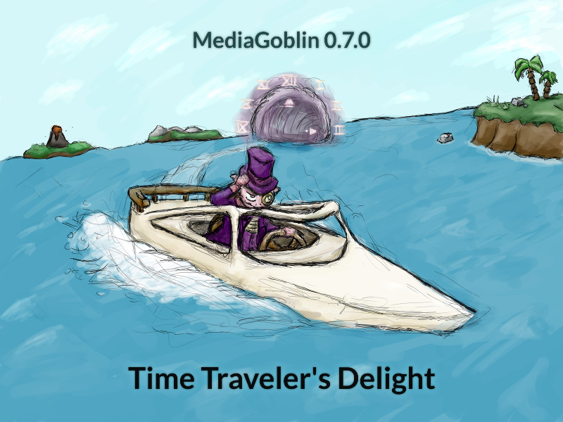 MediaGoblin 0.7.0: Time Traveler's Delight banner