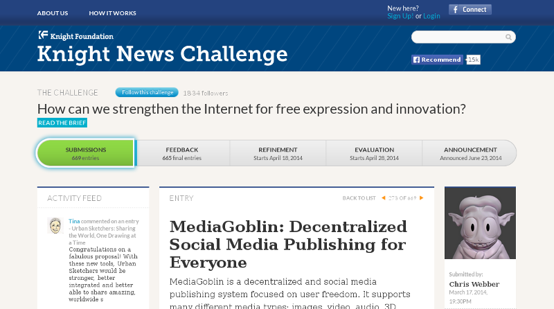MediaGoblin on the Knight News Challenge