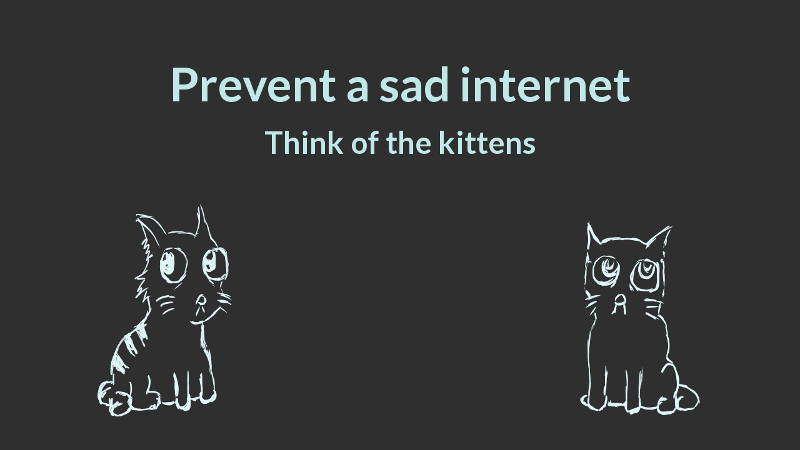 Cats, and a sad internet